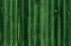 Bezszwowy zielony drewniany deski tło Zielona drewniana ścienna tekstura Deski przybijają z pionowo teksturą i kolor jest Fotografia Royalty Free