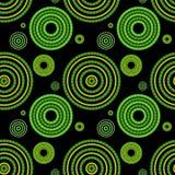 Bezszwowy zielony geometryczny wzór Obrazy Stock