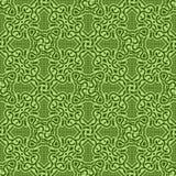 bezszwowy zielony ornament Obraz Stock