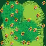 Bezszwowy zielony tło z łapami Obrazy Stock