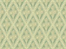 bezszwowy zielony wzoru Zdjęcia Royalty Free