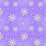 Bezszwowy zima wzór Fotografia Royalty Free