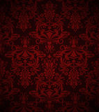 Bezszwowy zmrok - czerwona tapeta Obraz Stock