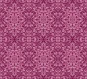 Bezszwowy zmrok menchii adamaszka wzór Obraz Stock