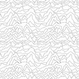 Bezszwowy zniekształcający wzór tło abstrakcjonistyczna krzywa biała tekstura ilustracja wektor