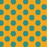 Bezszwowych abstrakcjonistycznych heksagonalnych płytek deseniowy tło Zdjęcie Stock