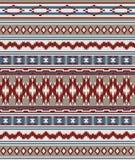 Bezszwowych Amerykańskich indianów plemienny wzór Zdjęcia Royalty Free