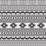 Bezszwowych Amerykańskich indianów plemienny wzór Zdjęcia Stock