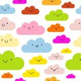 Bezszwowych chmur deseniowa wektorowa ilustracja ilustracja wektor