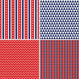 Bezszwowych dni niepodległości tło czerwony biały błękit Zdjęcie Stock