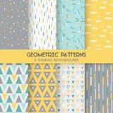 8 Bezszwowych Geometrycznych wzorów ilustracja wektor