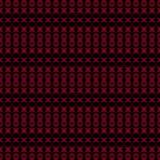 Bezszwowych miarowych okregów deseniowy czerwony brown czerń Fotografia Royalty Free