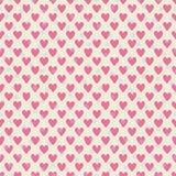 Bezszwowych różowych serc polki kropek mały wzór ilustracji