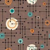 Bezszwowych 1950s retro wzór linie i okręgi ilustracja wektor