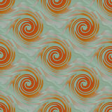 Bezszwowych spiral szarość menchii deseniowa pomarańczowa zieleń Zdjęcia Royalty Free