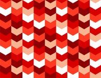 Bezszwowych wektorowych strzała pomarańcze menchii czerwony wzór Zdjęcie Stock