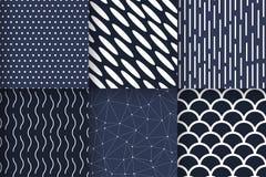 Bezszwowych wzorów geometryczny minimalistyczny wektor Fotografia Stock