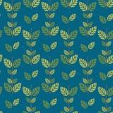 Bezszwowych zielonych liści deseniowy tło Fotografia Royalty Free