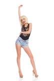 Beztroska młoda blondynki kobieta Obrazy Royalty Free