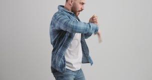 Beztroski mężczyzny taniec zbiory