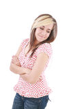 beztroskiej dziewczyny szczęśliwy nastoletni Zdjęcie Stock