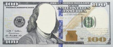 Beztwarzowi Jaśni $100 Bill Zdjęcia Royalty Free