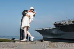 Bezwarunkowego poddania rzeźba w San Diego fotografia royalty free