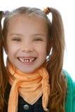 Bezzębna mała dziewczynka obraz stock