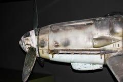 BF-109 Messerschmitt战斗机引擎 免版税库存图片