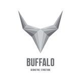 Búfalo Logo Sign - estructura geométrica abstracta Imágenes de archivo libres de regalías