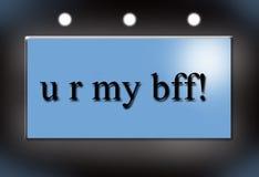 bff我的r u 库存照片