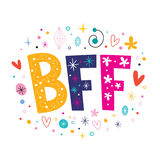 BFF - Best Friends Forever Stock Illustration