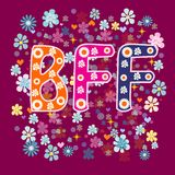 BFF - Best Friends Forever Royalty Free Stock Photos