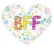 BFF Beste Vrienden voor altijd De kaart van de groet vector illustratie