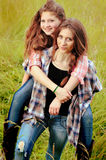 BFF Play Piggyback Royalty Free Stock Images