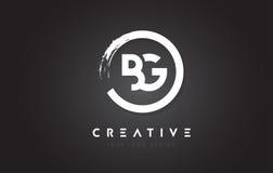 BG与圈子刷子设计和黑色Backg的通知商标 免版税图库摄影