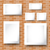 BG砖和框架 库存图片