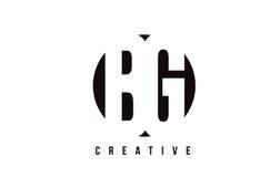 BG B G White Letter Logo Design with Circle Background. Stock Image