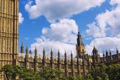 Bg Ben i pałac Westminister ` s piękna architektura wewnątrz Obraz Royalty Free