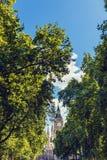 Bg Ben i pałac Westminister ` s piękna architektura wewnątrz Zdjęcie Royalty Free