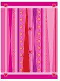BG cobarde rosada ilustración del vector