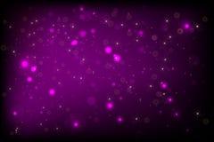 BG púrpura con el bokeh Foto de archivo