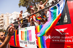 Bög Pride Parade Tel-Aviv 2013 Arkivfoton