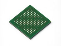 BGA chip. View of the contact chip BGA(ball grid array Royalty Free Stock Photo