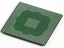 BGA chip in prospect. The reverse side of an integrated circuit Royalty Free Stock Images