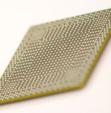 BGA chip in prospect. The reverse side of an integrated circuit Royalty Free Stock Photography