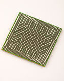 BGA chip in prospect. The reverse side of an integrated circuit Stock Photo