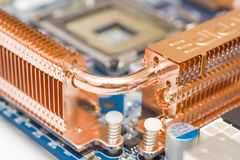 BGA Processor. Detail of processor , background, increase, close-up Royalty Free Stock Photography