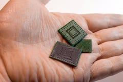 Bga Videocontroller, des northbridge und des southbridge Chips stockbild