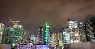 BGC, σφαιρικοί ουρανοξύστες πόλεων Bonifacio τη νύχτα στις 10 Οκτωβρίου 2017 Στοκ φωτογραφίες με δικαίωμα ελεύθερης χρήσης